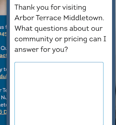 chat for senior living facility