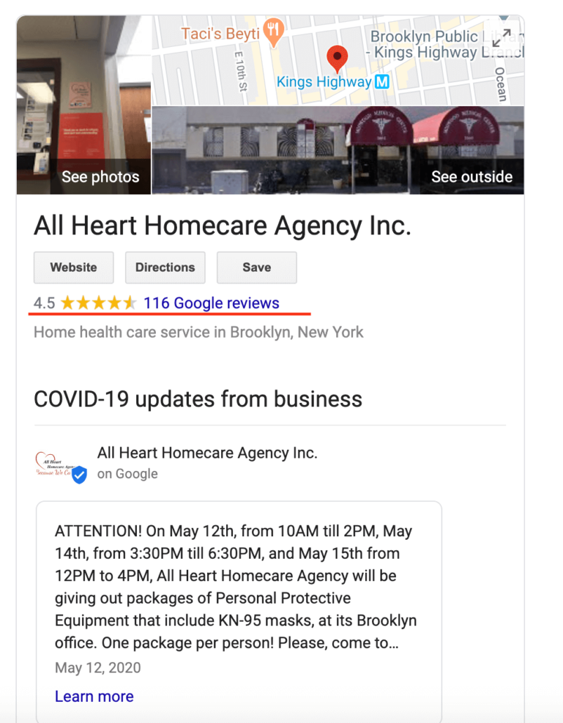 Reviews for home care