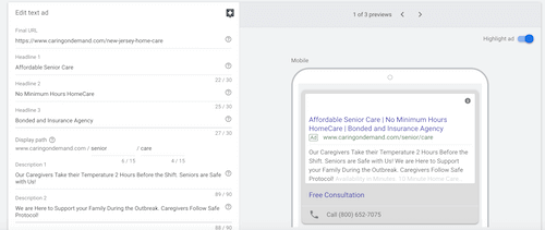 Google Ads To acquire Home care Clients